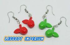 LEGO Dangle Earrings - Apples Red Green - FREE POST