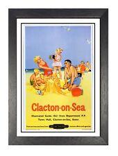 Southend On Sea 3 Railway Vintage Retro Oldschool Old Good Price Poster Antiquitäten & Kunst