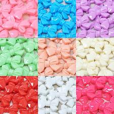 20x 25mm Resin Bows Shabby Chic Flatbacks Craft Embellishments - 10 Colours