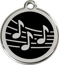 médaille acier inoxydable chien ou chat red dingo musique 3 tailles 11 couleurs