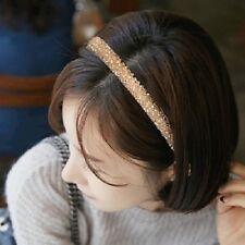 Wide Crystal Rhinestone Headband - Four Rows