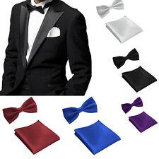 NŒUD + POCHETTE DE COSTUME RUBAN Unisexe mariage Confirmation costume cravate