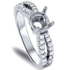 3/8ct Diamond Engagement Ring Semi Mount Solid 14K White Gold