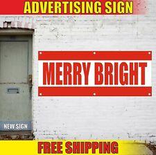 Merry Bright Banner Advertising Vinyl Sign Flag celebrate wedding event birthday