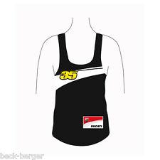 DUCATI Corse donna Tank Top Shirt Cal Crutchlow #35 MOTO GP NERO LADY!!!