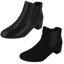 Donna Anne Michelle similpelle nera/Stivali in microfibra da retail