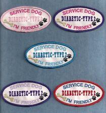 "New listing Service Dog Diabetic Type 2 - 2""h x 4""w oval - service dog vest patch -"