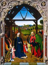 Petrus Christus Nativité Christ Nativity, Art Poster, Christian, Canvas Print