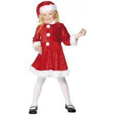Girls Santa Dress Kids Mrs Claus Christmas Costume Fancy Dress Outfit