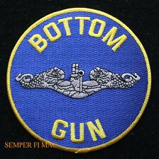 BOTTOM GUN SUBMARINE VETERAN VET US NAVY VET PATCH USS NS USN SUB DOLPHINS WOW