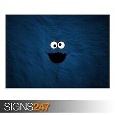 Cookie Monster Fondo (AD382) cartel Gracioso-arte cartel impresión A0 A1 A2 A3