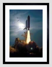 THE SPACE SHUTTLE DISCOVERY SOARS SKYWARD 1994 FRAMED ART PRINT MOUNT B12X2431