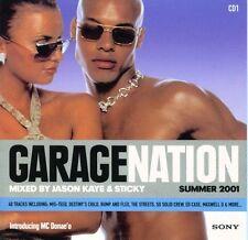★ GARAGE NATION SUMMER 2001 2xCD Mixed by Jason Kaye & Sticky ★ 2001 UK Speed★