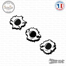 Sticker Bulletholes trous de balles Decal Aufkleber Pegatinas D-350