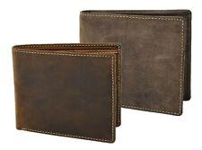 Mens Leather Slim Fold Wallet Notecase Banknotes Credit Cards Holder Prague