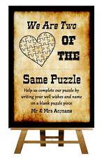 WESTERN VINTAGE voleva Puzzle guest BOOK nozze PERSONALIZZATA segno / POSTER