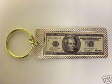 GOLD KEYCHAIN W/ REPLICA OF A 20 DOLLAR BILL