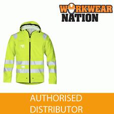 Snickers 8233 Yellow Hi-Vis PU Rain Jacket, Class 3