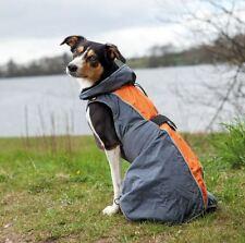 Trixie Hunde Regenmantel Solid, grau/orange, diverse Größen