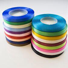Full Reel Satin Craft Scrapbook Sewing Wedding Ribbon 6mm CHOOSE COLOUR 30 yards