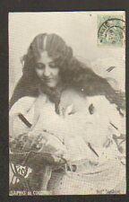 ARTISTE : Mlle SAPHO DE COLOMBO , Cliché STEBBLING en 1906