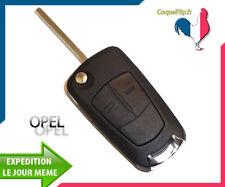 Coque Télécommande Plip 2 Boutons Opel Astra Vectra Zafira + clé vierge