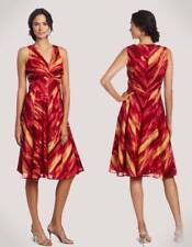 JONES NEW YORK Spice Red Orange Yellow Flared Dress 6 8 NWT Womans (MSRP $139)