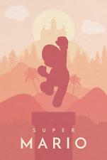 Nintendo Super Mario Digital Art Game Poster Print T1027  A4 A3 A2 A1 A0 