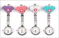 Mickey Mouse Red Cross Nurse Brooch Pin Clip Pendant Quartz Doctor  Watch E18