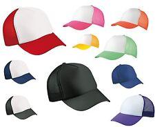 2 PACK MB TRUCKER CAP HALF MESH TRUCKER HAT - 22 GREAT COLOURS - WHOLESALE PRICE