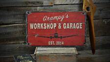 Custom Aviation Workshop Garage Sign -Rustic Hand Made Vintage Wooden ENS1000411