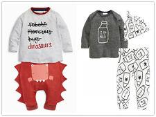 3pcs Newborn Infant Kids Baby Boys Clothes T-shirt Tops+Pants+Hat Outfit Set