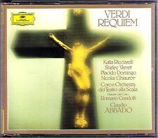 Claudio Abbado Verdi Requiem Placido Domingo RICCIARELLI Verrett Ghiaurov DG 2cd