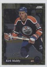 1993 Score Canadian Gold Rush 627 Kirk Maltby Edmonton Oilers Rookie Hockey Card