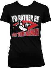 I'd Rather be at the Range - Guns Shooting Target Fun Juniors T-shirt
