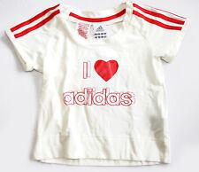 ADIDAS 3SA tee white/neored t-shirt kid maglietta bambina bianca cod. 603627