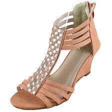 New women's shoes stilettos back zipper open toe casual fashion pink studs