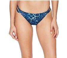 NEW Lucky Brand Shibori Side Strap Reversible Bikini Bottom Indigo Blue $62