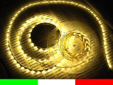 BIANCO CALDO 5m LED STRIP LUCE 12V CON ALIMENTATORE C1F3.B1B1