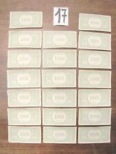 20 BANCONOTE di 1000 lire del Monopoli vintage anni 60