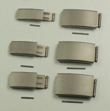 QUALITY TITANIUM BUCKLE 3 fold & adjustable bracelet watch clasp 10mm - 20mm