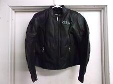 Shift Racing M1 Leather Motorcycle Street Bike Jacket Woman's Black Large 70055