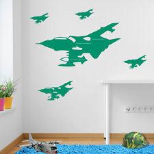 Ejército Militar avión jets Tornados niños Vinilo Adhesivo Mural Decoración para avión C A42