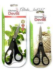 Fiskars Kitchen Devils Scissors Make Easy Work Household Food Meat Fish Hearbs.
