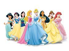 Disney Princess gran cartel impresión Girl Dormitorio Pared Arte Decoración Kids Cartoon