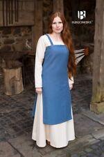Moyen-âge Robe à Bretelles Salopette Robe Viking - Bleu Océan de Burgschneider