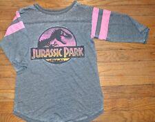 Jurassic Park Juniors 3/4 Sleeve Top Official Licensed Light Weight Tee T-Shirt