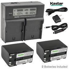 BP-970G Battery & LCD Dual Charger for Canon UC-X2 X2Hi X30Hi X40Hi X45Hi X50
