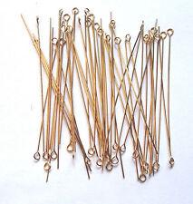 50 GOLD FILLED 12kt 24 GAUGE 2 INCH EYE PINS C104