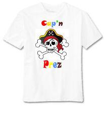 pirate personnalisé T-shirt - Joli Cadeau pour petits garçons - Tailles 1-12 An